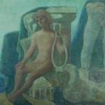 Felicjan Szczęsny Kowarski, Efeb, olej, płótno, 151x225, 1947