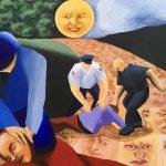 Anna Grzymała, Kraina, farba akrylowa napłótnie, 100 x 130 cm, 2020